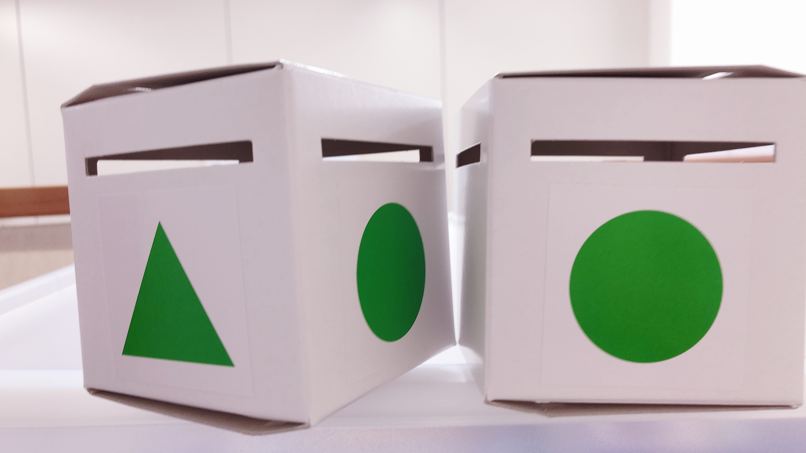 こんなボックスで形の概念の押さえをします