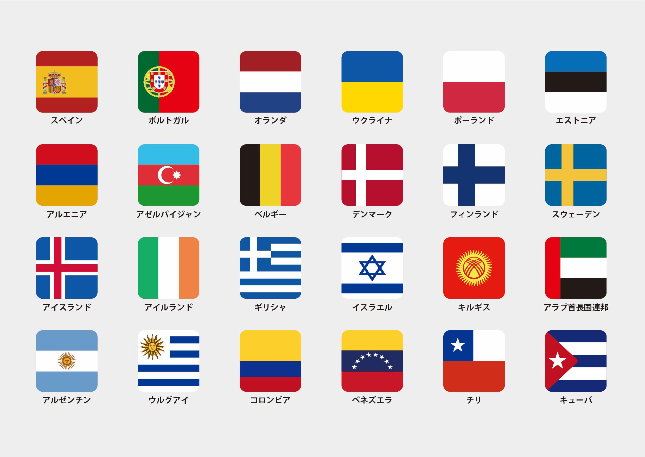 世界の国旗を覚えよう!
